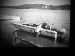 Suur-Saimaan ajot 1968. Lars Reivonen. Finnstar 19. Evinrude 115