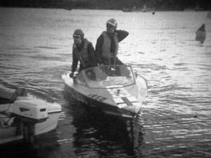 Pentti Ja Harry Fabritiuksen ensimmäinen Argo. Vaneria Mercury 50. Suur-Saimaan ajot v.1969. Luokka E