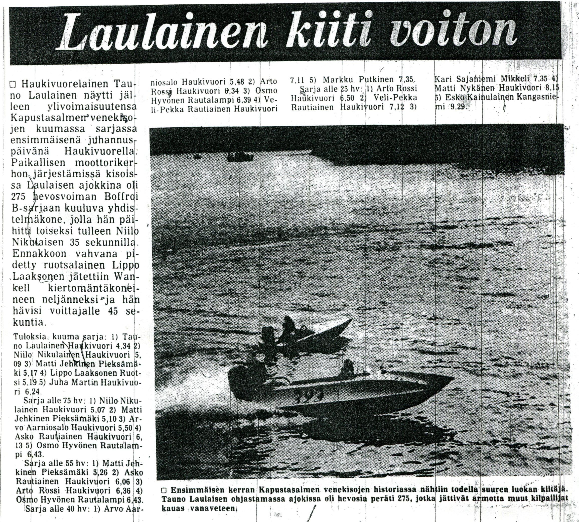 SavonSanomat 23.6.1980